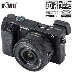 Kiwifotos anti-çizik kamera vücut cilt kapak koruyucu Film Sony Alpha A6100 A6300 A6400 + SELP1650 16- 50mm Lens 3M Sticker