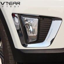Vtear para hyundai ix25 creta acessórios frente traseira luzes de nevoeiro capa quadro guarnição abs chrome exterior reequipamento 2018 2019 estilo do carro