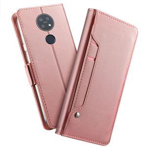 Image 2 - Para Nokia 7,2 Funda de cuero tipo cartera con tapa y soporte con espejo a prueba de golpes para Nokia 3,1 C Nokia 2,2 funda con ranura para tarjeta de lujo