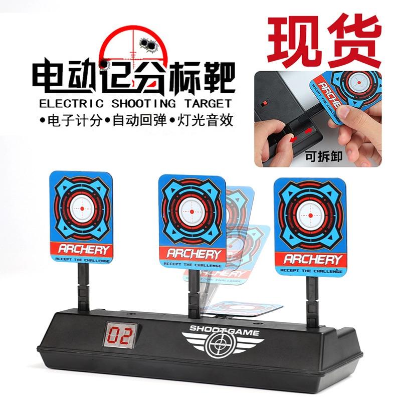 Electric Scoring Target, Electronic Scoring Target, Automatic Return Water Pistol, Soft Bullet Gun, Practice Target