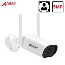 Anran 5mp câmera ip wifi câmera de segurança 1920p ao ar livre câmera de vigilância cctv câmera em dois sentidos de áudio à prova dwaterproof água visão noturna app