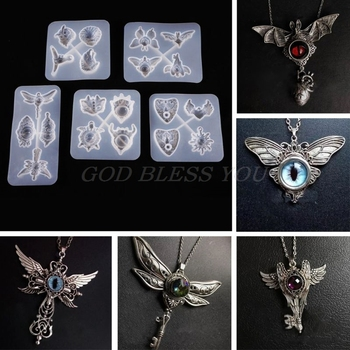 Pendant Wings Angel Silicone Mould UV Epoxy Resin Mold Jewelry Making Tools