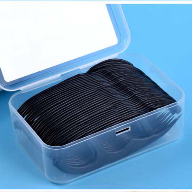 50pcs/Set Dental Floss Black Bamboo Charcoal Teeth Stick Interdental Brushes Flosser Oral Clean Toothpick Tool With Box