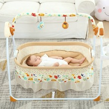 2 in 1 Multi-function Baby Electric Cradle Bed Sleeping Basket Baby Comfort Rocking Chair Smart Bluetooth Swing Bed 0-12 Monthes baby portable baby bed anti tipi sleeping bag comfort station folding bed cabarets sleeping basket bed