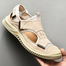 OUDINIAO summer Men Sandals Beach Male Sandals outdoor Chaussure Homme Man Casual Shoes Male Comfortable Sandalias Hombre 38-46