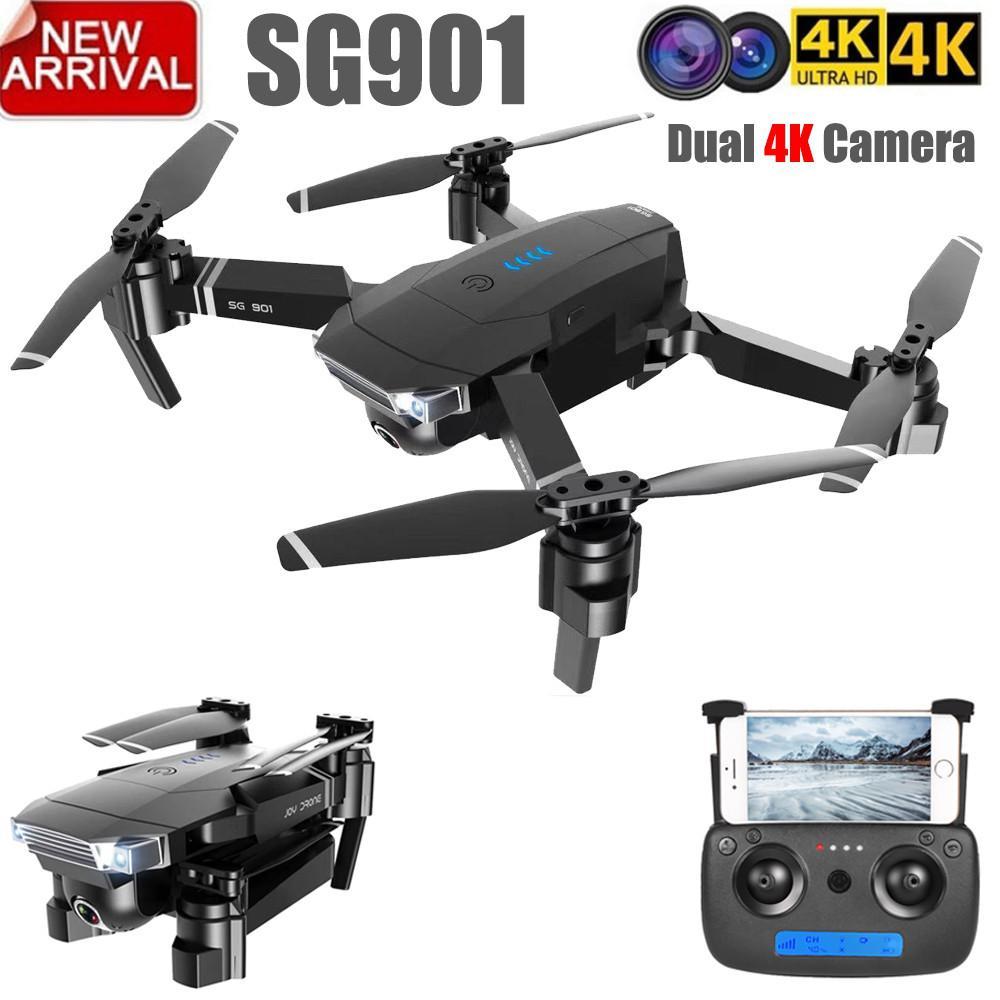 ZLL 2019 New SG901 Camera Drone 4K HD Dual Camera Drones Follow Me Quadcopter FPV Professional GPS Long Battery Life