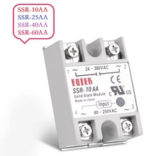AC-AC Single Phase Solid State Relay 10A 25A 40A 60A SSR Module SSR 10AA 25AA 40AA 60AA 80-250V AC 220V To 24-380V AC