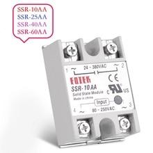 цена на AC-AC Single Phase Solid State Relay 10A 25A 40A 60A SSR Module SSR 10AA 25AA 40AA 60AA 80-250V AC 220V To 24-380V AC