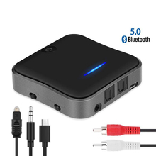 Bluetooth 5.0 Transmitter Receiver CSR8675 3.5mm USB APTX HD Audio Music Wireless Adapter 3.5 Jack AUX/SPDIF/RCA for Car TV PC