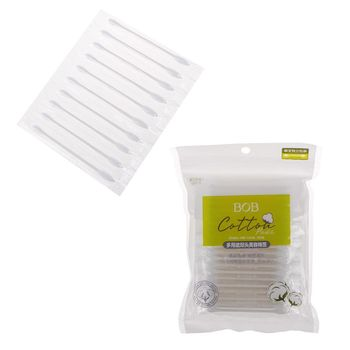 10/100pcs Disposable Double-ended Cotton Swabs Cosmetic Tools Individually Packaged For Portable Travel Hot 7.8x0.5cm