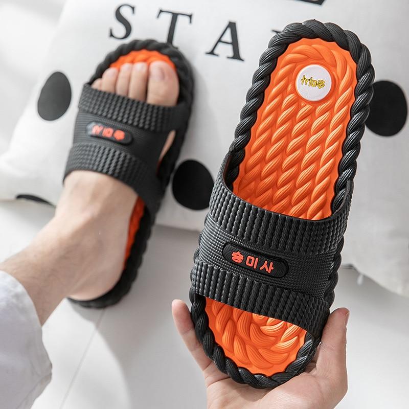 Non Slip Men Massage Slippers  2020 New Indoor House Shoes Women Summer Fashion Outdoor Flip Flops Ladies Beach Bathroom Slides
