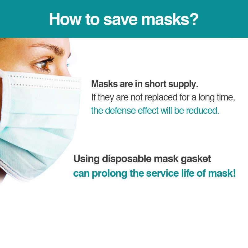 100 Pcs Sekali Pakai Masker Paking Pengganti Masker Pad Keselamatan Anti DUST Respiratory Masker Filter Antivirus Topeng Melawan Polusi Mat