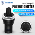 Quick Wiring Potentiometer, Convenient Installation 22mm Frequency Converter, Precision Speed Controller 1K5K10K50K100K