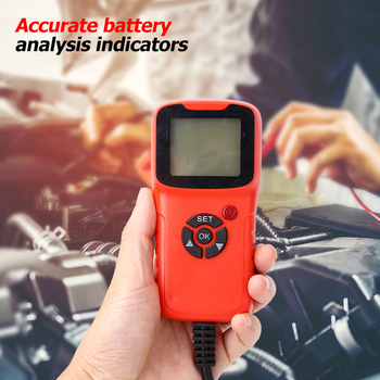 12V Car Battery Tester Digital Vehicle LCD Battery Analyzer Auto System 100-1700CCA Analyzer Voltage ohm CCA Test Repair Tools image