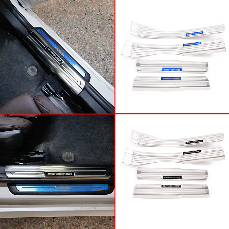 Stainless Steel Inner Door Sill Scuff Plate Guards Trim Sticker for BMW 3 Series G20 320i 2019-2020 Car Styling Accessories image