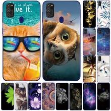 Clear Soft TPU Case For Samsung Galaxy M21 Funda 6.4'' cute transparent silicon Phone