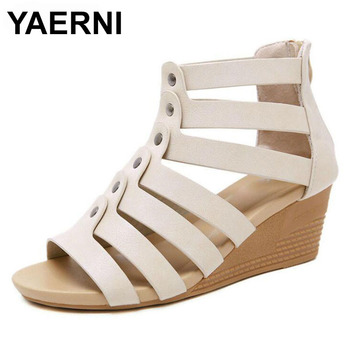 YAERNISandalias de las mujeres zapatos de tacón alto de la plataforma tacones...
