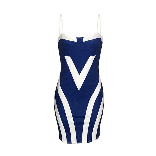 Plus Size Women Sheath Sexy Bodycon Party Summer Dress Spaghetti Strap Sleeveless Backless Patchwork Print Vestidos Robe Femme 3