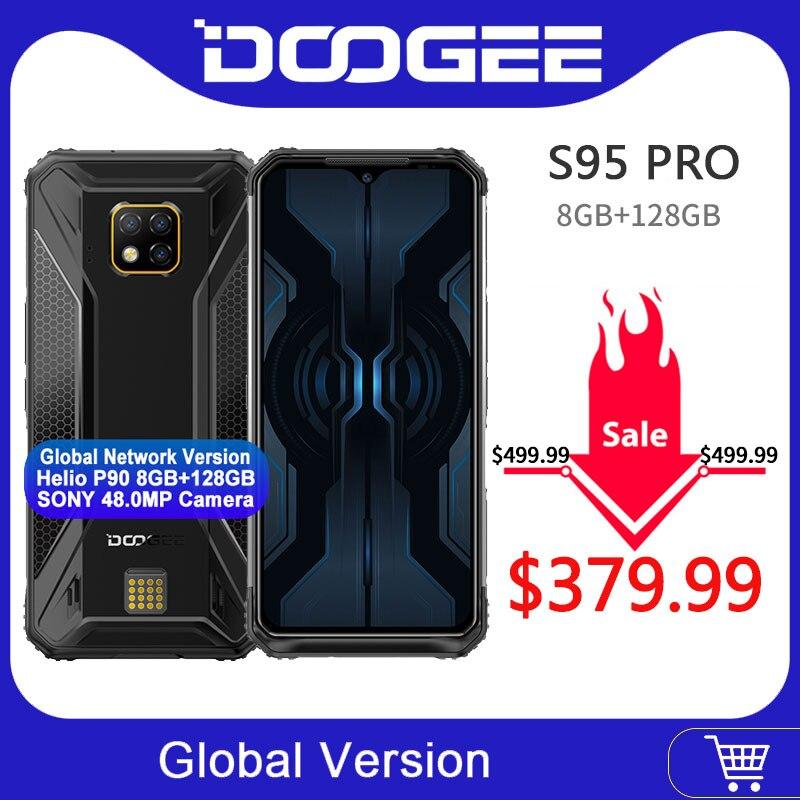 IP68/IP69K DOOGEE S95 Pro Helio P90 Octa Core 8GB 128GB Modular resistente teléfono móvil 6,3 pulgadas pantalla 5150mAh 48MP Cam Android 9 Altavoz multipunto 4,1 + EDR Kit manos libres Bluetooth inalámbrico para coche reproductor de música MP3 para IPhone Android