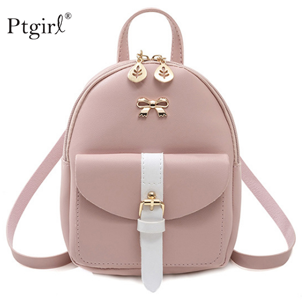 2019 Top Female Backpack Women Fashion Lady Shoulders Small Backpack Ptgirl Letter Purse Mobile Phone Bag  For Teenage Grils Sac