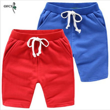 Sportswear Clothing Children's Pants Elastic Candy-Color Beach-Boys Fashion Summer Cool
