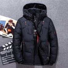 Down Parka Jacket Men -30 Degree Winter Thick Warm White Duck Down Jackets Hooded Windbreaker Parkas Hombre Coat Oversized M-4XL