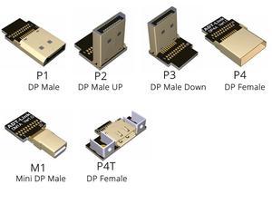Плоский кабель-удлинитель DisplayPort Male-female, экранирующий EMI FPC Кабель DP с углом 90 градусов с монтажным кронштейном