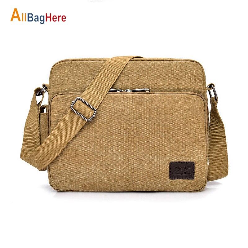 Large Capacity Canvas Messenger Bag Men Multifunctional School Crossbody Bags Boys Waterproof Quality More Internal Shoulder Bag