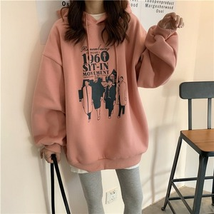 Image 2 - Hoodies Women Loose Thickening Printed Korean Style Students Solid Hip Hop Sweatshirts Hooded New All match BF Ulzzang Casual