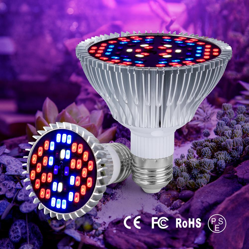 Phyto Lamp Full Spectrum LED Grow Light E27 Plant Lamp Fitolamp For Indoor Seedlings Flower Fitolampy Grow Tent Box 30W 50W 80W