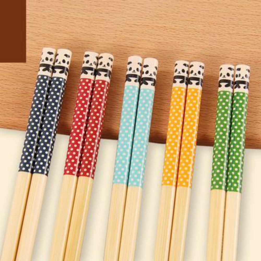 5 пар многоразовых японских бамбуковых палочек для еды китайских