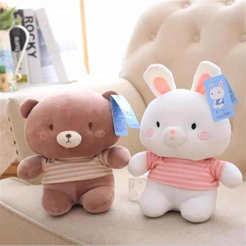 برنامج نمط جديد Lanbaiwanou أرنب طفل الفيل الدب الصغير ألعاب من القطيفة المعزي اللعب لصديقة من الهدايا