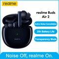 Беспроводные Bluetooth-наушники realme buds air 2 ANC, 25 часов общее воспроизведение, 88 мс, сверхнизкая задержка, 10 мм, Hi-Fi, усиление басов, в наличии