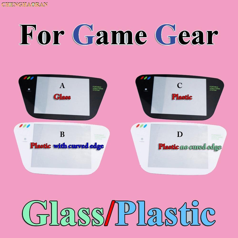 ChengHaoRan 5pcs Plastic Replacement Screen Cover Lens For Sega Game Gear Black GG Gamegear Console