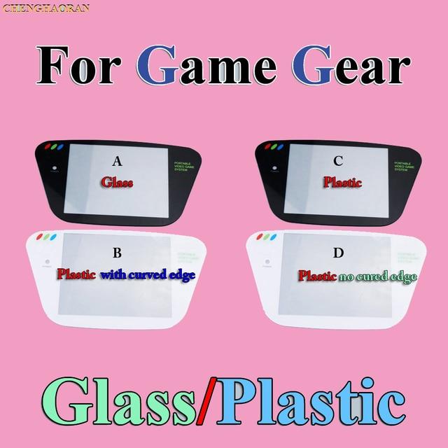 ChengHaoRan 5pcs פלסטיק החלפת מסך כיסוי עדשה עבור Sega משחק הילוך שחור GG Gamegear קונסולה