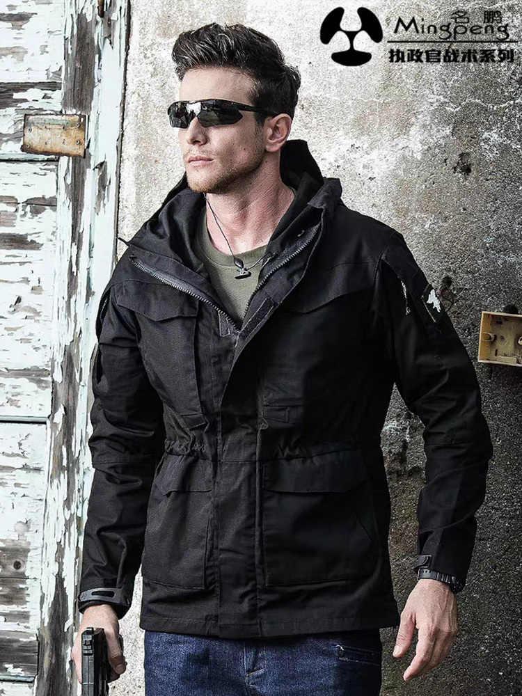ブランドハイキングコート防水ウインドブレーカーパーカー軍事戦術的な衣類秋服ルーズソフトシェルジャケットの男性トップ
