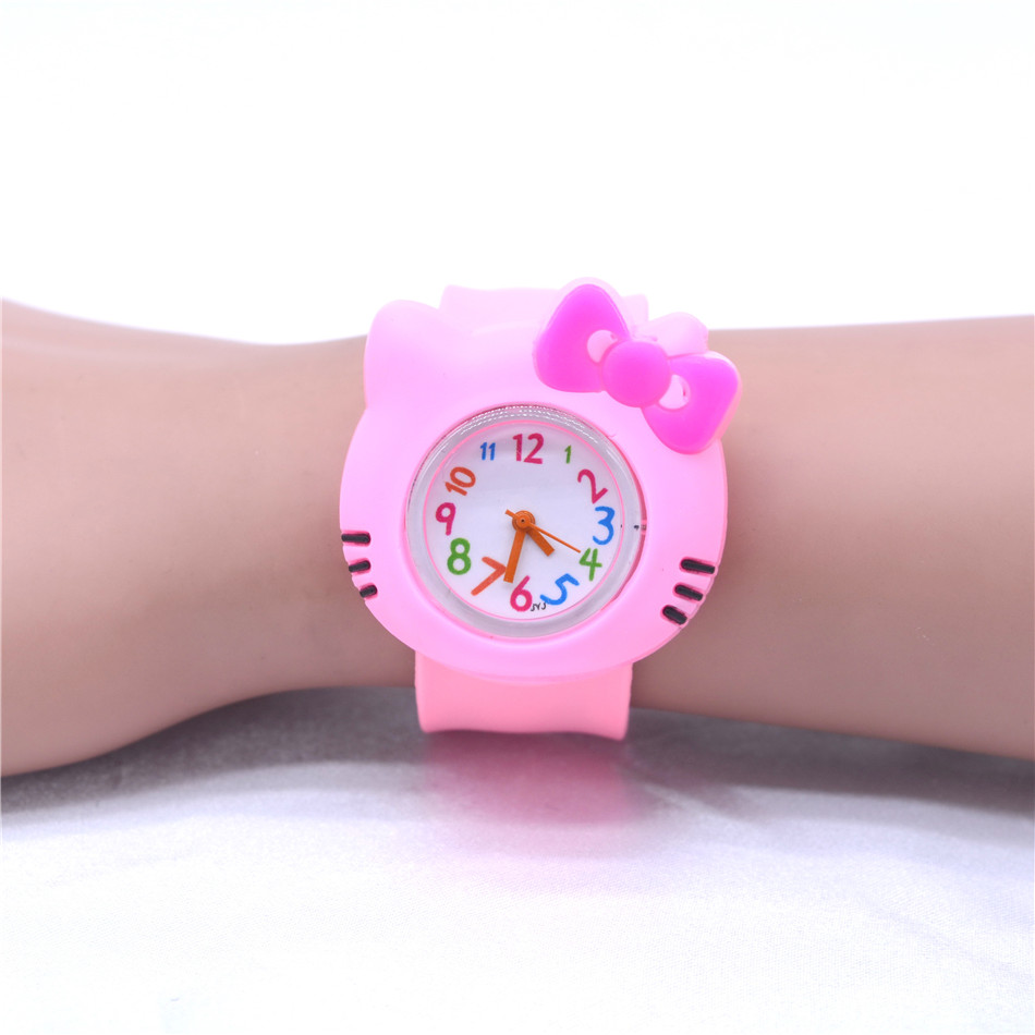 Pink Silicone Watch For Girl Toys Slap Belt Wristwatch Children Christmas Gift Kinder Horloge