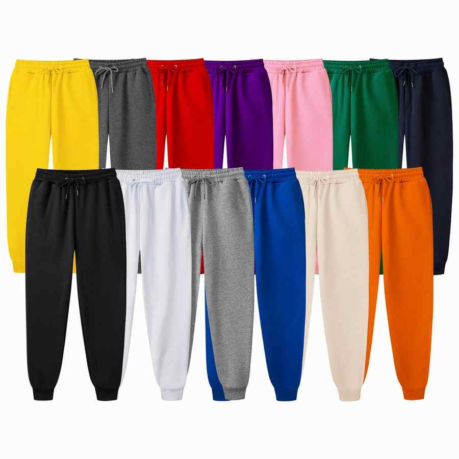 New Autumn  Solid color Men Joggers Sweatpants Men Joggers Trousers Sporting Clothing The High Quality Bodybuilding Pants