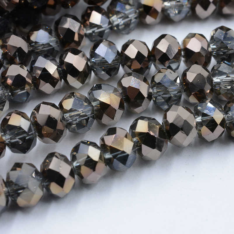 New Half-antique Copper 4mm 6mm 8mm Austria Crystal Beads Charm Glass Beads Loose Spacer Bead for DIY Jewelry Making 2019