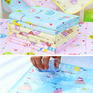 Breathable Baby Changing Cotton Pad Waterproof Small Nappies Soft For Newborns Washable Baby Diaper Pad Color 34x43cm Rando B7X0
