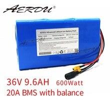 Комплект литиевых батарей AERDU 36 В 10S3P 18650 а/ч 42 в для электровелосипеда, электровелосипеда, мотора, скутера с большой мощностью 25 А BMS