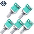регулятор громкости 5 шт. 50 к потенциометр аудио аксессуары двойное соединение регулировочное оборудование 15*15*15 мм