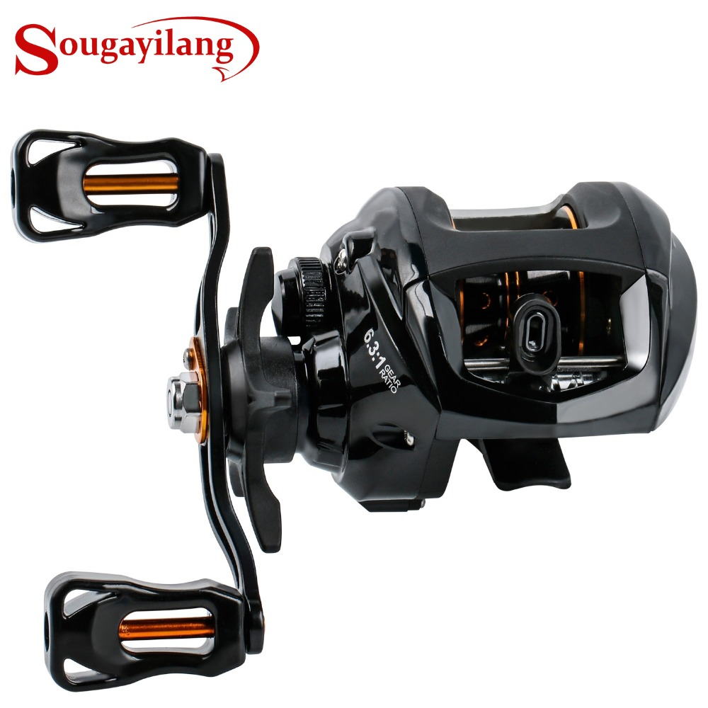 Sougayilang Baitcast Reels Ultra Light One way Control Casting 12+1BB Fishing Reels Travel Bass Fishing Reel Wheel Fishing Reels Sports & Entertainment - title=