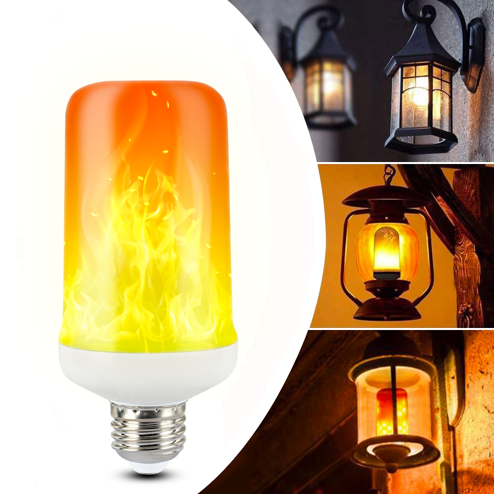 CHIZAO Flame effect decorative bulb LED dynamic flame light E12/14/26/27 Creative corn bulb Flame simulation effect Night light 2