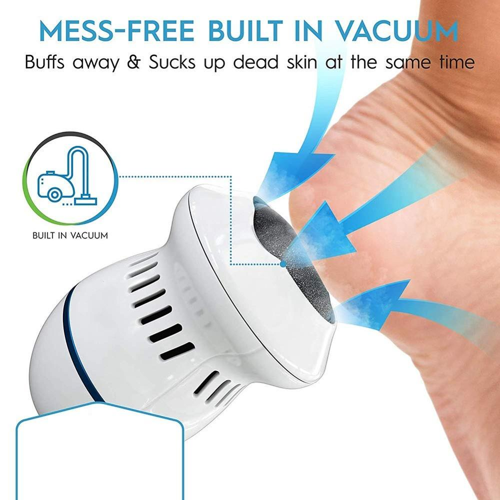 Pedivac Electric Foot File Grinder Dead Skin Callus Remover Foot Pedicure Tools Feet Care Hard Cracked Foot Files Clean Tools