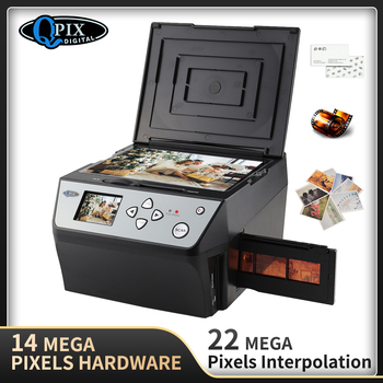 4 in 1 COMBO 22 Mega Pixels Photo and Digital 35 mm Film Scanner 135 Negative Converter Photo Scanner Business Card Scanner