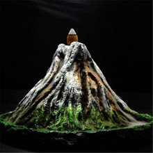 RONGHEREN Backflow Incense Burner Ceramic Aromatherapy Furnace Smell Aromatic Cone Volcanic Eruption back  Incense Holder kovacs cheap smell