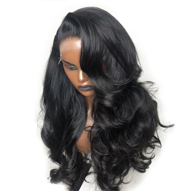 Glueless Full Lace Wigs Fake Scalp Body Wave 250 Density Pre Plucked Transparent Full Lace Human Hair Wigs Brazilian Wig Remy