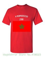 2018 Morocco Flag Russia World Match Cup sporty jersey Newest summer T shirt Mens fans footballer goal Tee(China)