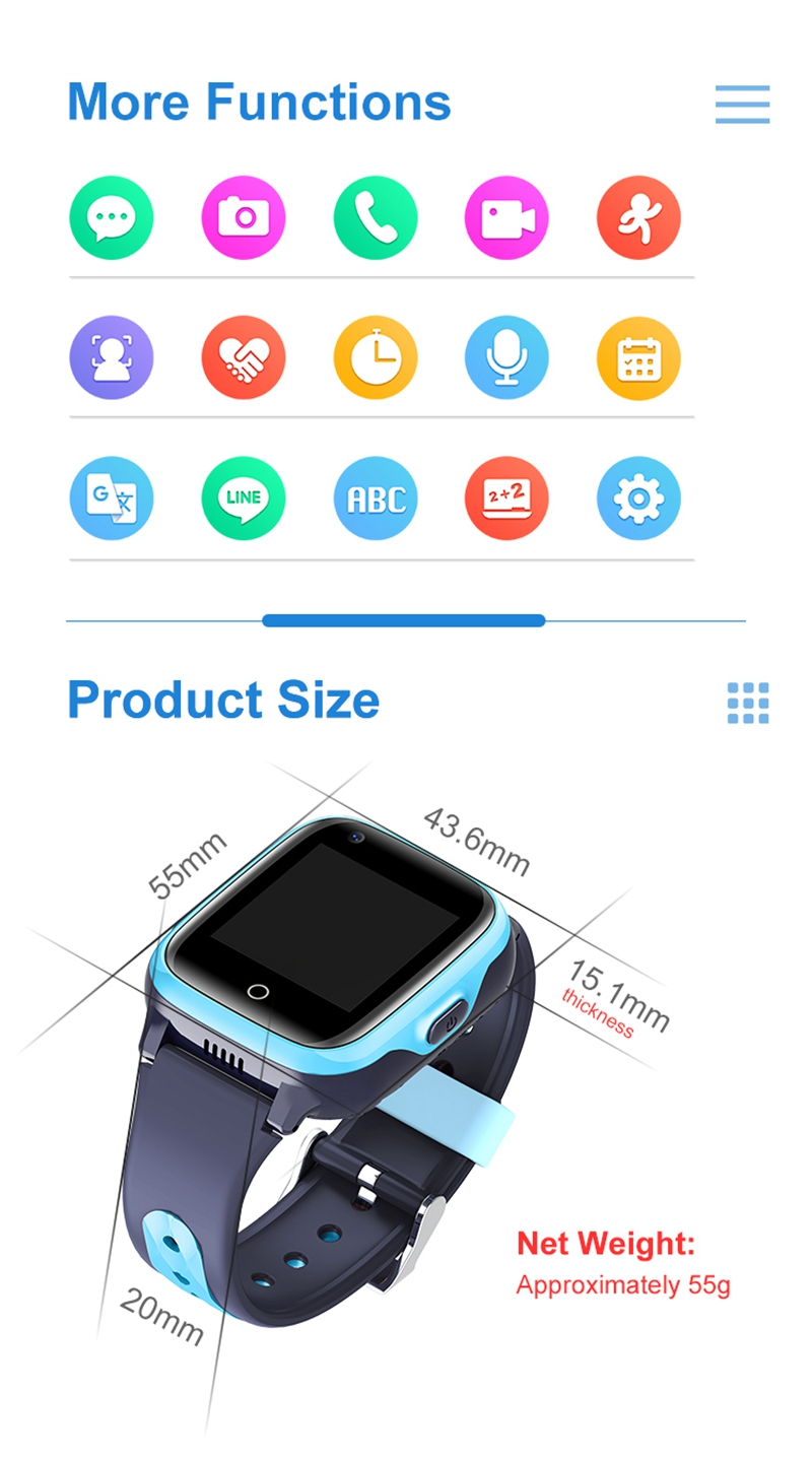 Intelligens órák gyerekeknek 4G HD videohívás GPS Smart-Watch baba vízálló fényképezőgép SOS elveszett kereső óra születésnapi ajándék (11)